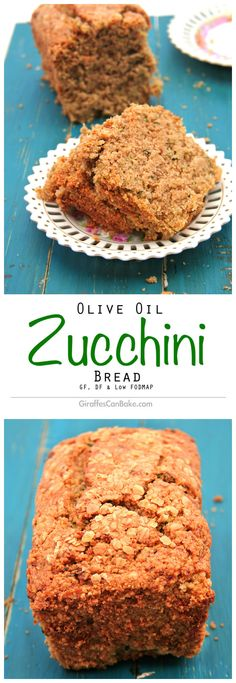 Olive Oil Zucchini Bread by Giraffes Can Bake - gluten free, dairy free, low FODMAP and, most importantly, absolutely delicious! Easy to make using staple ingredients!