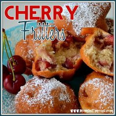 Mom On Timeout: Fresh Cherry Fritters {Recipe}