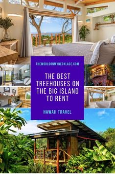 If you are looking for a unique experience on the Big Island of Hawaii, you can't go past staying at one of the many incredible tree houses that you can rent through Airbnb. Find out the best Hawaii tree houses that you can rent, from basic to luxury, and get planning! | The World on my Necklace #treehouses #hawaii #hawaiivacation Hawaii Honeymoon, Hawaii Vacation, Amazing Destinations, Travel Destinations, Cool Places To Visit, Places To Go, Hawaii Travel Guide, Cool Tree Houses, Visit Usa