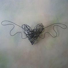 Winged wire heart