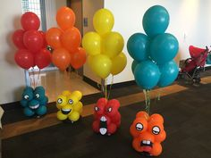 Specializing in high quality family-friendly entertainment for events, we also offer balloon decorations! Monster First Birthday, Monster 1st Birthdays, Boys 1st Birthday Party Ideas, Monster Birthday Parties, 1st Boy Birthday, Geek Birthday, Monster Centerpieces, 1st Birthday Centerpieces, Birthday Balloons