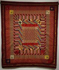 Meg Cox at the War and Pieced Exhibition at the American Folk Art Museum. Antique Quilts, Vintage Quilts, Geometric Quilt, The Quilt Show, Medallion Quilt, Colonial, Antique Tools, Scroll Saw Patterns, Patch