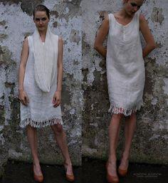 Handmade Milk Linen Dress, via Etsy.
