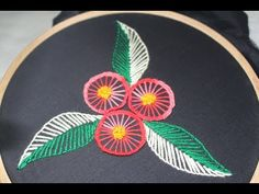 Hand Embroidery Designs | Basic embroidery design | Stitch and Flower-141 - YouTube