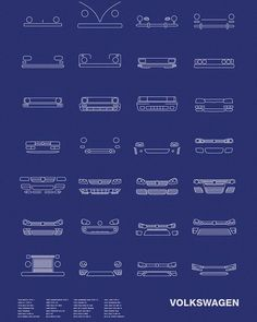 The Auto Icon Series explores the evolution of vehicle design via a series of iconic, minimalist models that brands like General Motors have made over the years. Volkswagen Transporter, Vw T1, Volkswagen Karmann Ghia, Volkswagen Golf, Ford Thunderbird, 1932 Ford, Lincoln Continental, General Motors, Kombi Last Edition