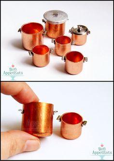1:12 Copper Pots by Bon-AppetEats.deviantart.com on @deviantART