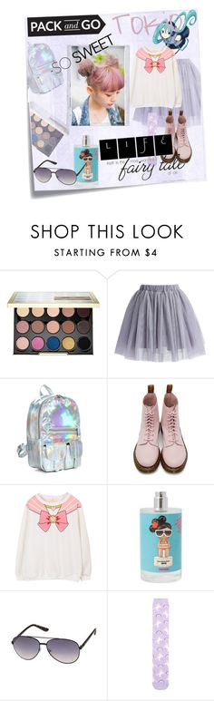 """Harajuku girl"" by zerinafe ❤ liked on Polyvore featuring Post-It, Urban Decay, Chicwish, Dr. Martens, cutekawaii, sass & bide, New Look, Polaroid, tokyo and Packandgo"