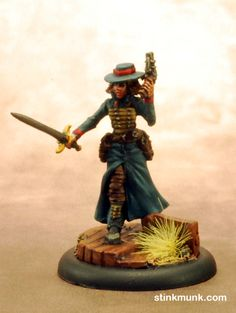 Guild Guardsman 1 of 3, First Edition. Model by Wyrd Miniatures, painted by Stinkmunk (2012). #Malifaux