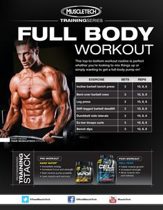 Get ready to start the week and hit the gym hard! This top-to-bottom workout routine is perfect whether you're looking to mix things up or simply wanting to get a full-body pump on! .Get more motivated at http://www.fitbys.com Sports and Gymwear