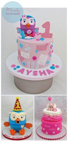 Monday Favourite :: Sweet Surprise Cakes Birthday Cakes, 2nd Birthday, Birthday Ideas, Owl Food, Owl Cakes, Surprise Cake, Girl Boards, Sweet Style, Style Blog