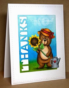 Whimsie Doodles Garden Bear by Kim O'Connell