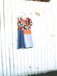 small medium / Panel Dress / romantic Upcycled clothing by CreoleSha, $77.00