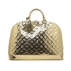 Louis Vuitton Gold Miroir Mirror Alma GM - modaselle