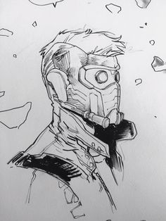 Marvel Drawing Star-Lord by Sara Pichelli * Character Drawing, Comic Character, Character Design, Krav Maga, Comic Kunst, Comic Art, Drawing Sketches, Cool Drawings, Drawing Tips
