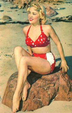 Very cute red and white vintage bathing suit!