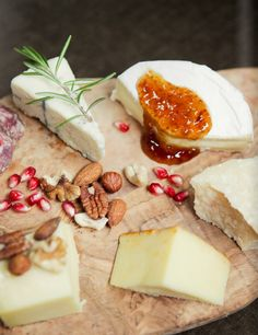 How To Host A Wine And Cheese Pairing Party...serve selection of soft, medium, hard cheeses and set out apple slices, walnuts, almonds, a bowl of grapes, some pitted dates, dried fruits, chocolate, an olive tapenade, dried fruits, fig jam, balsamic vinegar/glaze, honey and fruit chutneys