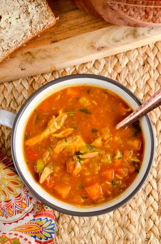 Slimming Eats Syn Free Spicy Chicken and Vegetable Soup - gluten free, dairy free, instant pot, paleo, Slimming World and Weight Watchers friendly