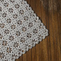 Handmade crocheted beige doilies - Vintage doily coasters- Farmhouse crochet doily - Home decor doilies - French beige lace doily.