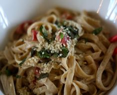 Coconut Sesame Noodle Recipe (great recipe for kelp noodles too)