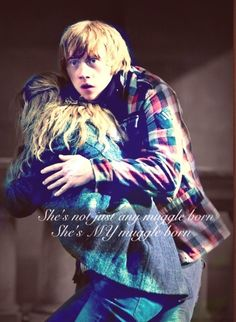 He's not just any blood traitor he's my blood traitor! Ron And Harry, Harry Potter Ships, Harry Potter Images, Harry James Potter, Harry Potter Hermione, Harry Potter Quotes, Harry Potter Characters, Harry Potter World, Ron Weasley
