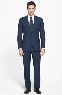 Love the Armani Collezioni 'Giorgio' Stripe Wool Suit on Wantering.