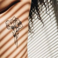 60+ Cute Summer Tattoo Art Design Ideas For Woman:Cute Little Floral Tattoo - Poppy & Rose