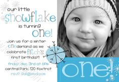 SALE Winter One derland Boy 2 Birthday Party by kottageon5th - Available for boys and girls, in girl colors, too! Super cute November, December, January, February invite! Like it? Please help support small business and purchase at www.kottageon5th.etsy.com.