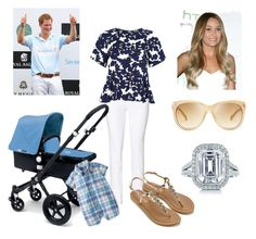 """Duchess and Prince John (2 Months) at Harry's Polo Match"" by royal-fashion ❤ liked on Polyvore featuring Benetton, River Island, Accessorize, Lauren Ralph Lauren, Bugaboo, Carter's, Tiffany & Co. and Jimmy Choo"
