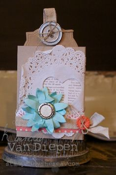 3D Pocket Card using the Pop Up Posies kit from Stampin' Up!   www.stampinbythesea.com  Kimberly Van Diepen Stampin Up!