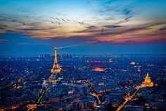 Eiffel Torni, Ranska, Auringonlasku