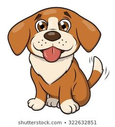 Illustration of the smiling happy cute little puppy Pet Dogs, Dog Cat, Puppy Drawing, Doodle Dog, Cute Little Puppies, Puppy Face, Happy Puppy, Smiling Dogs, Dog Pattern