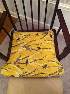 A Little Birdwell Told Me... reupholstered glider