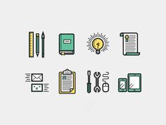 Resume Icons by Kevin Moran, via Behance