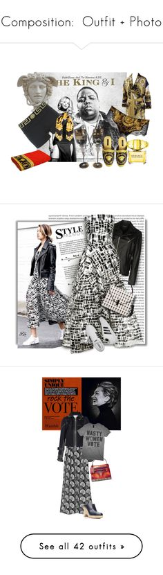 """""""Composition:  Outfit + Photo"""" by jzanzig on Polyvore featuring Versace, Street Leathers, Maticevski, adidas, Lee Mathews, Sacai, Valentino, Gabriela Hearst, rockthevote and Urban Expressions"""