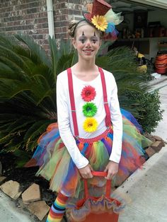 Cute tutu clown costume