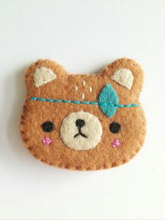 Spirit+Bear+BroochHandmade+bear+broochNEW+by littlehappystitches