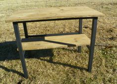 Up-cycled metal & wood table