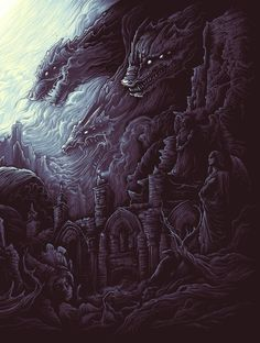 """The Earth Itself / Shall Rise From Below / And Tower Over All"" by Dan Mumford"