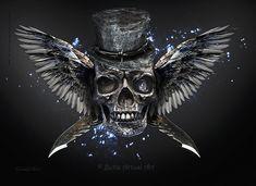 Skull by BettaArtusiArt.deviantart.com on @DeviantArt