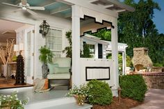 15 Charming Porches : Outdoor Projects : HGTV Remodels - Drapery Panels for Privacy Instead of Trellis
