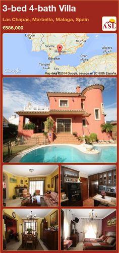 3-bed 4-bath Villa in Las Chapas, Marbella, Malaga, Spain ►€586,000 #PropertyForSaleInSpain