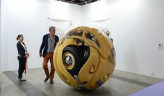 Five Bugs squashed for new objet dart at Art Basel show, by Ichwan Noor