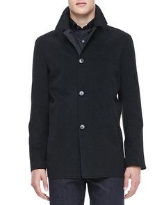 Ermenegildo Zegna - Reversible Car Coat, Charcoal/Black