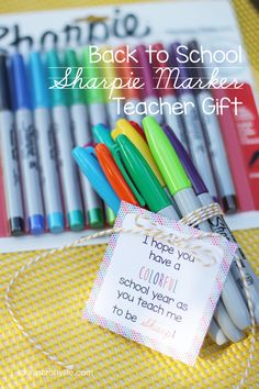 Back to School Sharpie Marker Teacher Gift