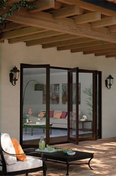 Customize Your Patio Today With These Gorgeous Bi Fold Patio Doors.  Featuring Moving Glass