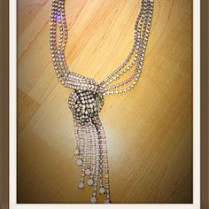 1950's glamour Rhinestone drop necklace! Be a 1950's glamour girl in this sparkly rhinestone TRUE Vintage necklace!! Matching earring available sold separately but will bundle! No stones missing! In excellent vintage condition Vintage Jewelry Necklaces