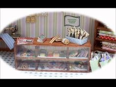 miniature haberdashery shop in a roombox