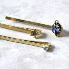 Space Barrette Set (3pc) via  Kloica Accessories. Click on the image to see more!