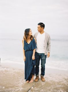 Read More on SMP: http://www.stylemepretty.com/california-weddings/joshua-tree/2015/09/14/casual-chic-beach-joshua-tree-engagement-session/