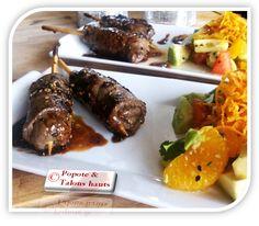 Popote & Talons hauts: Yakitori au boeuf et fromage (Brochette japonaise)...